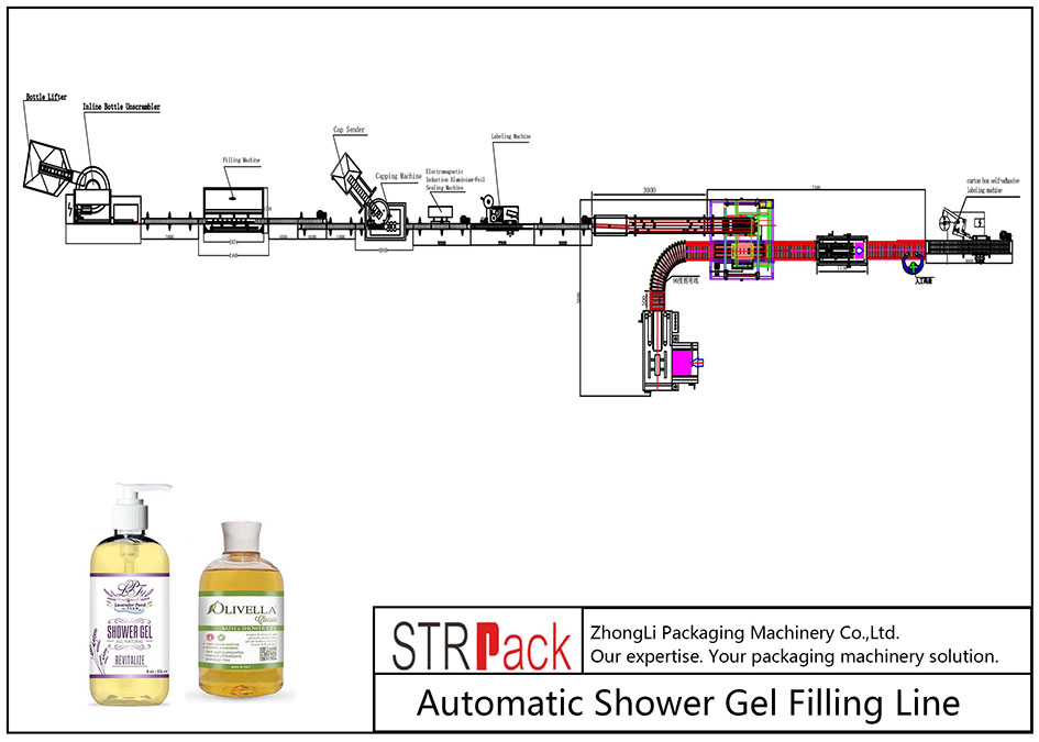 Automatic Shower Gel Filling Line